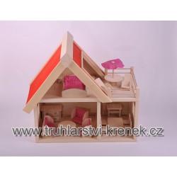 Domek s nábytkem - barva