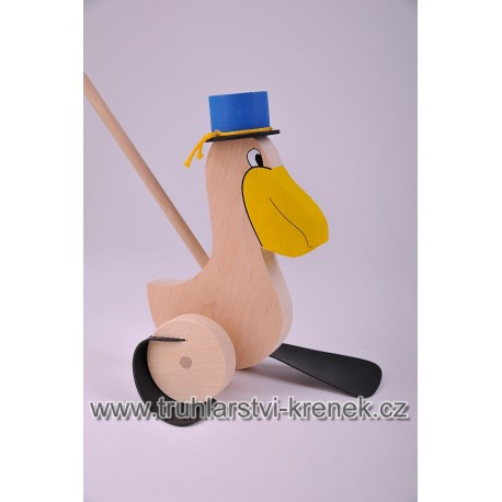Plácačka pelikán - klobouk modrý
