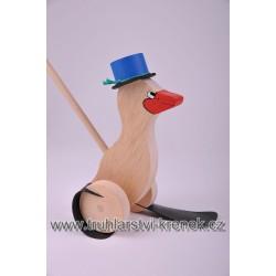 Plácačka kachna - klobouk modrý