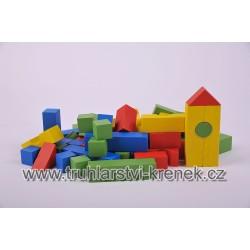 Stavebnice - sáček barevná